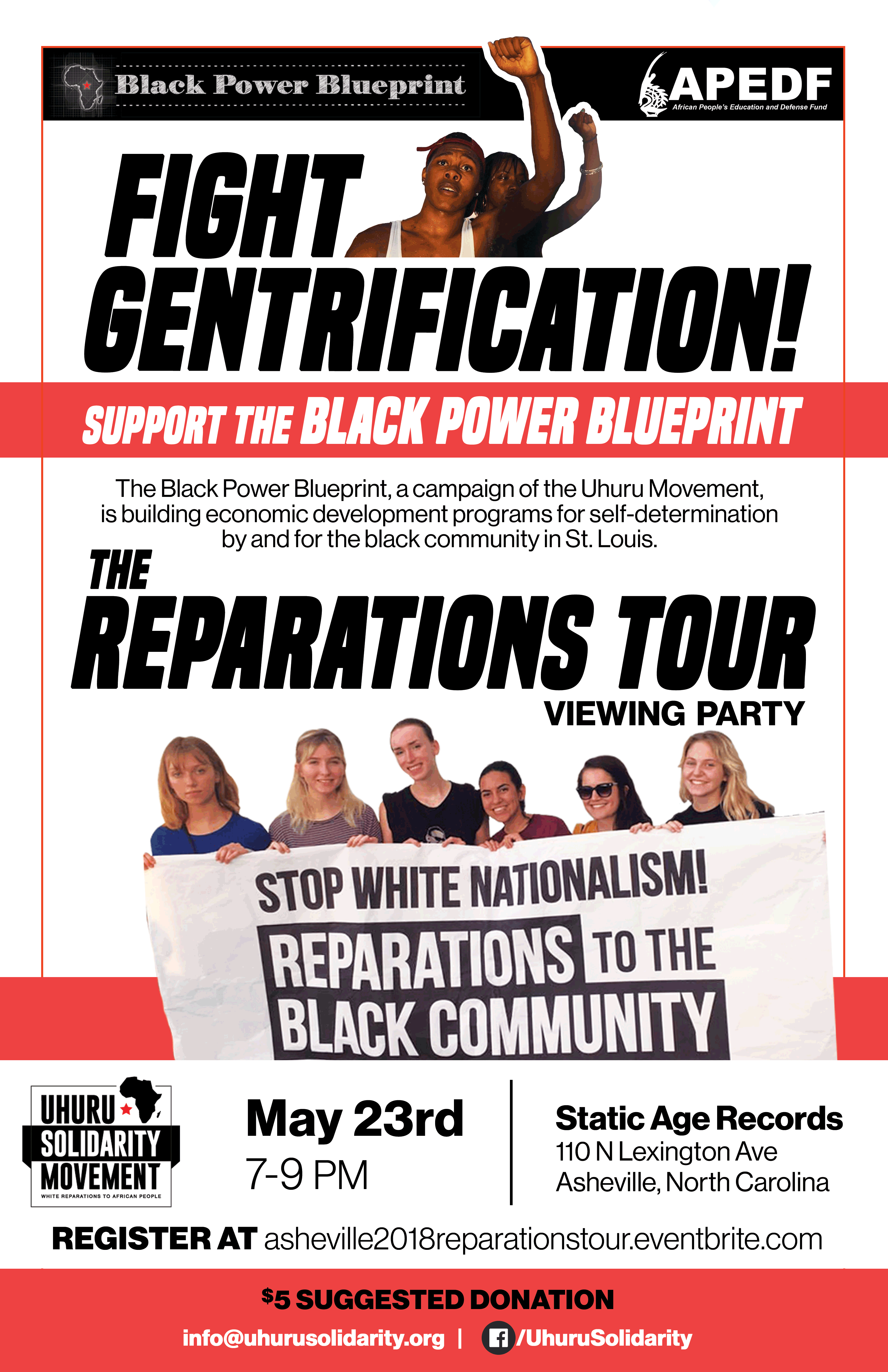 Reparations tour viewing party asheville please join us for the reparations tour white solidarity with the black power blueprint asheville viewing party malvernweather Gallery