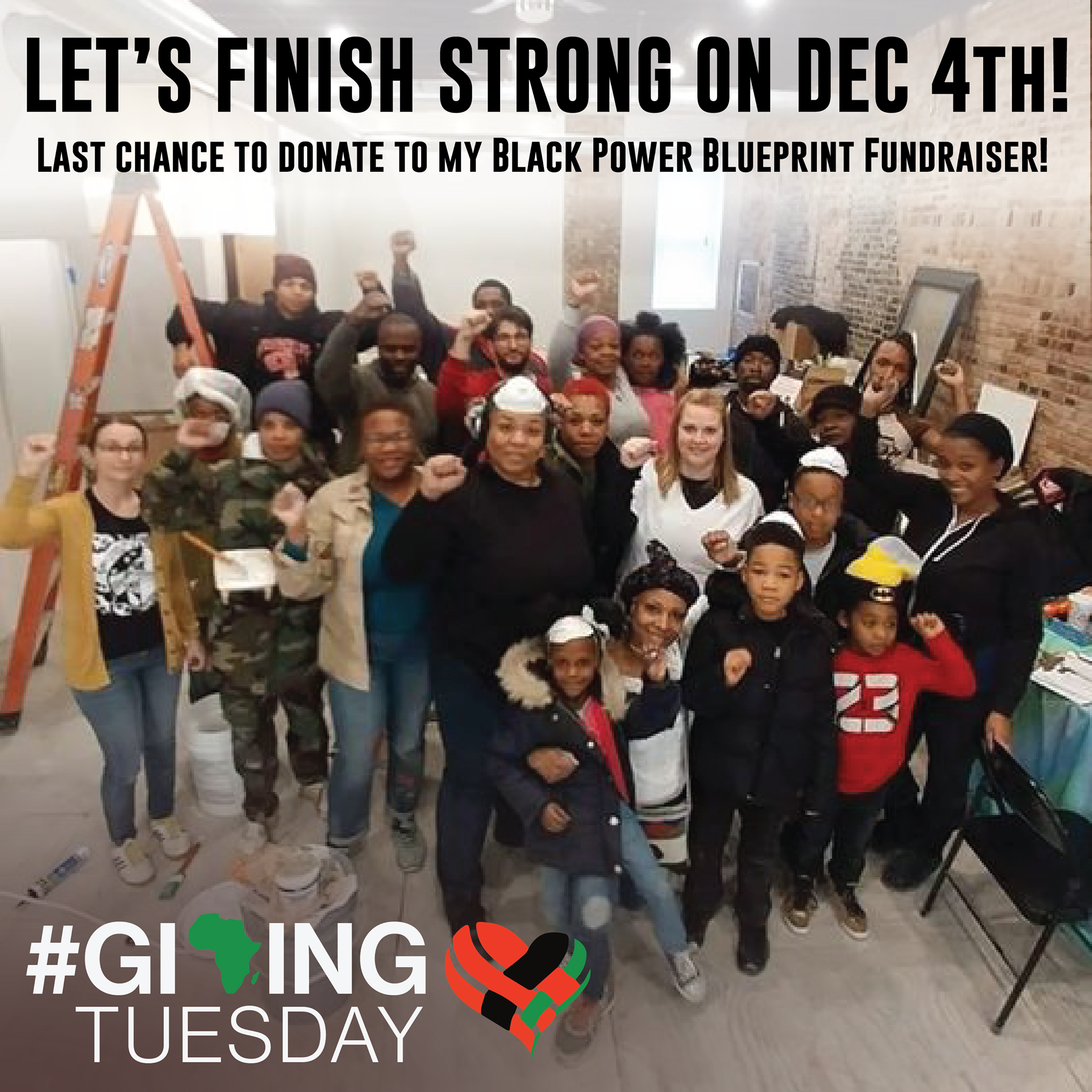 Let's finish strong on December 4 #GivingTuesday